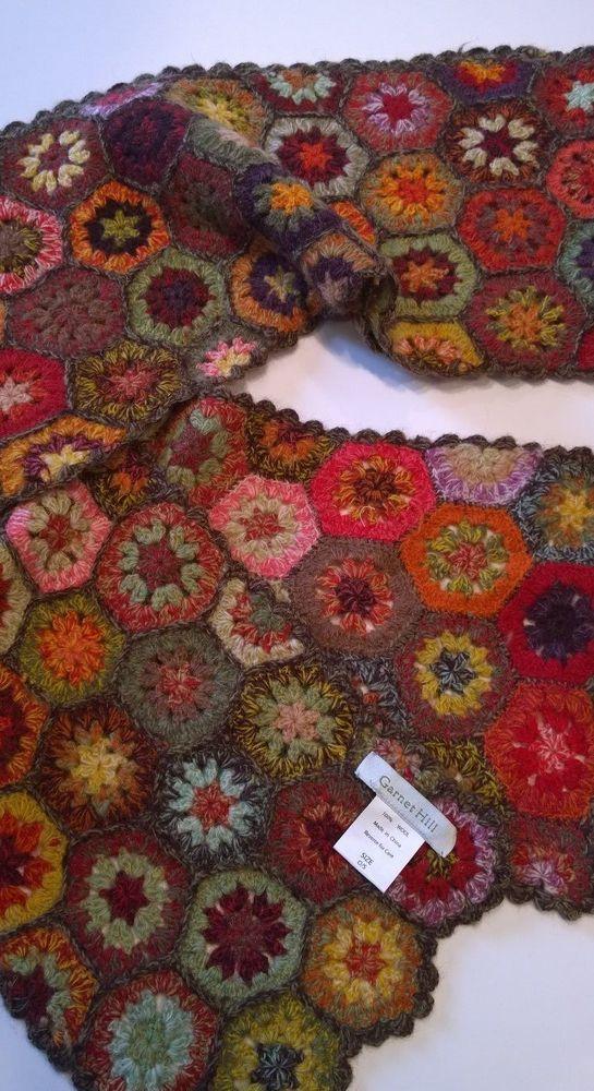 Haverhill Garnet Hill Hexagon scarf. | Knitting: Garnet Hill | Pinterest