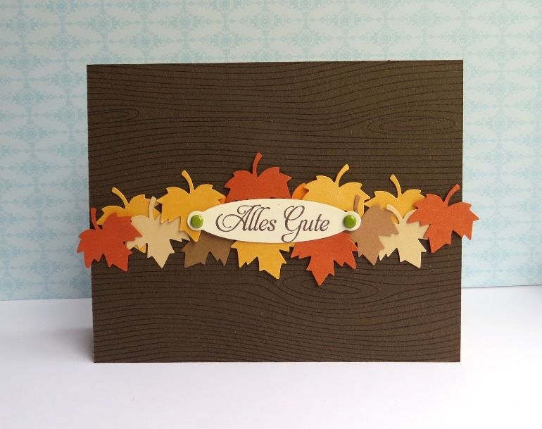 Autumn card.  I know we don't have this punch but the card is so cute.  : )