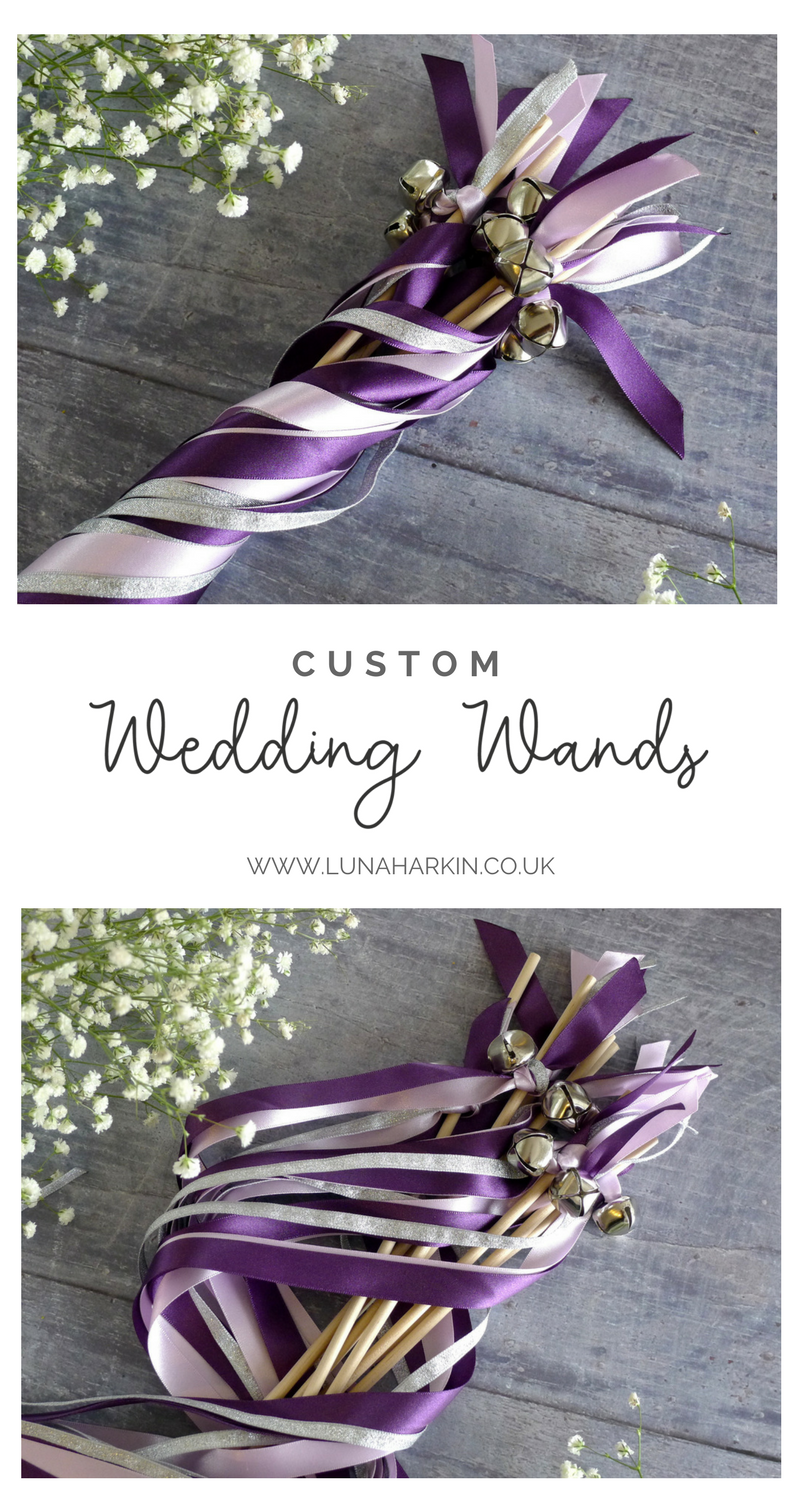 Desktop diy wedding ribbon for wand laptop hd flower girl purple silver jingle