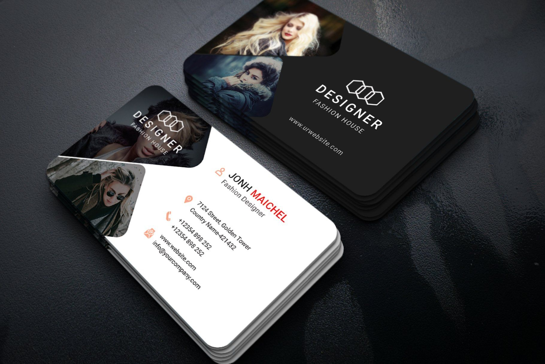 Fashion Business Card Vol 02 With Images Fashion Business