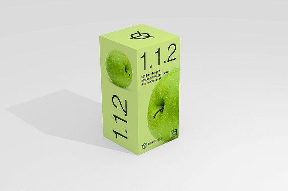 Download 1 1 2 Simple 3d Box Mockup Box Mockup Print Portfolio Design Mockup Psd