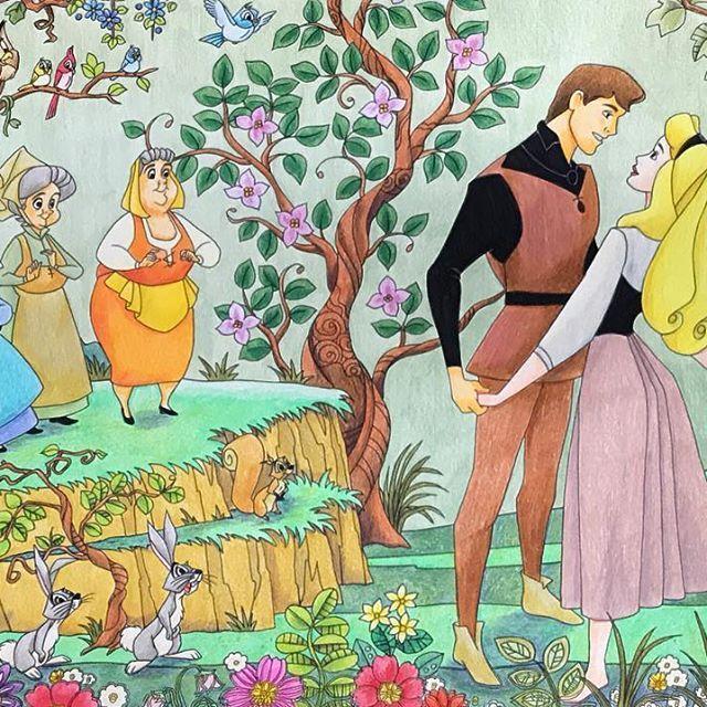 眠れる森の美女 Coloriage Coloringbook ディズニー塗り絵