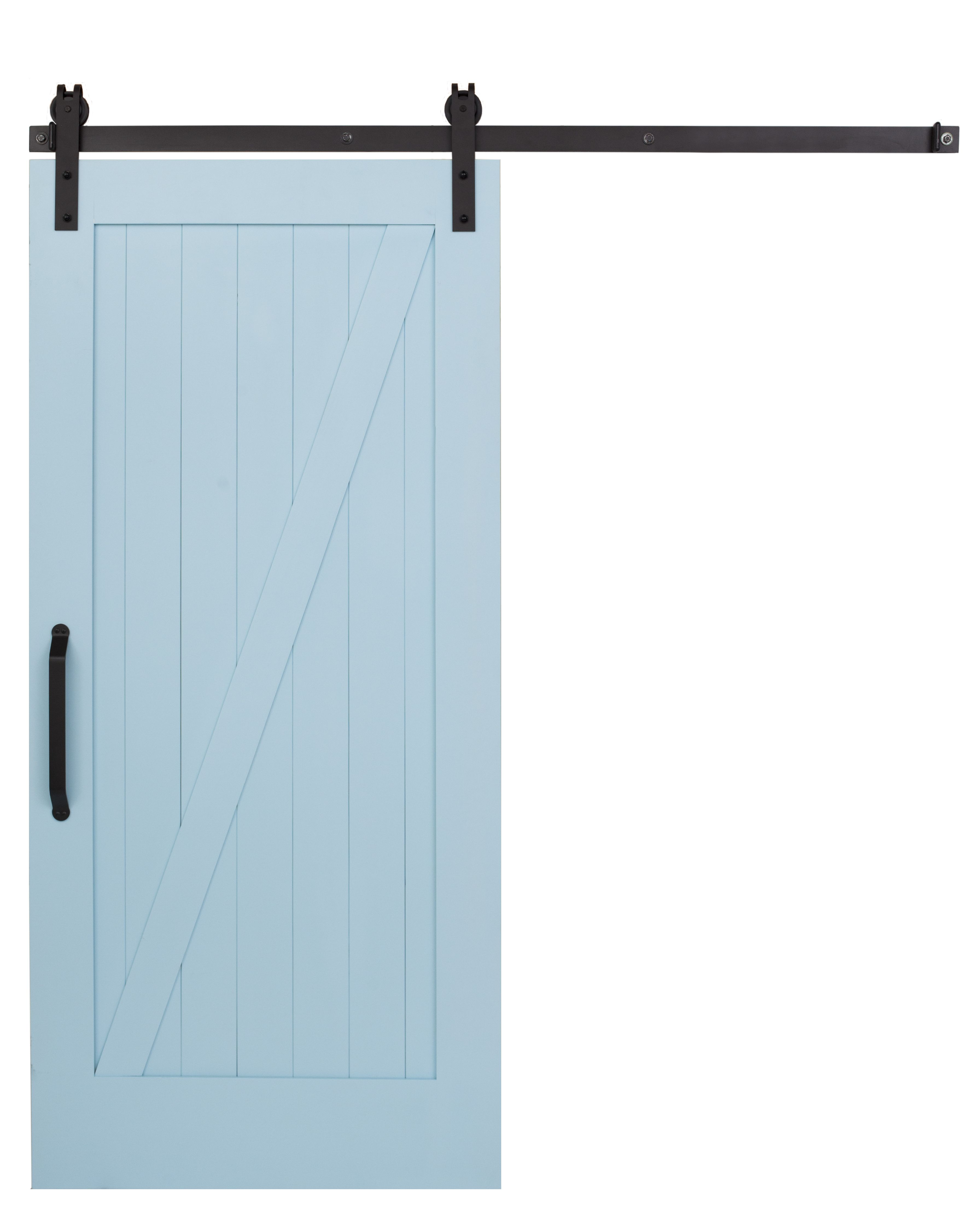 Z Barn Door In Quench Blue By Rustica Hardware