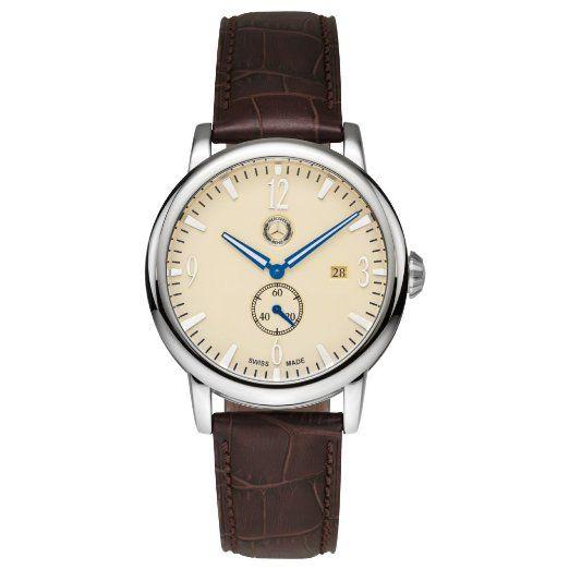 7d84432a3efe Mercedes Benz - Reloj de pulsera para hombre (con pequeño segundero ...