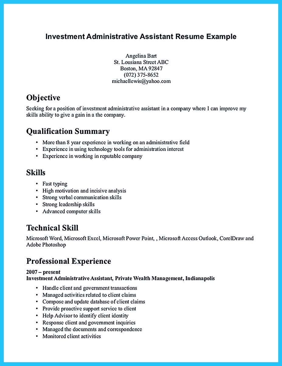 Administrative assistant resume sample is useful for you