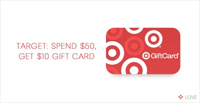 Spend $50 at Target, Get $10 Gift Card. www.designlovelife.com
