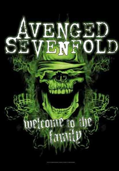 Avenged Sevenfold Poster Flag Welcome To The Family Tapestry With
