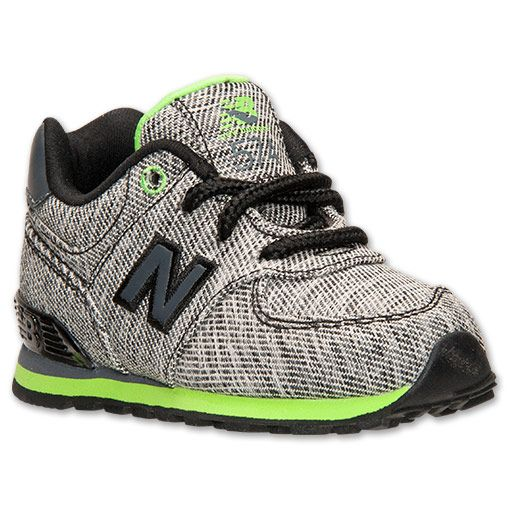 Boys' Toddler New Balance 574 Casual Shoes   Finish Line   Grey/Black/Lime