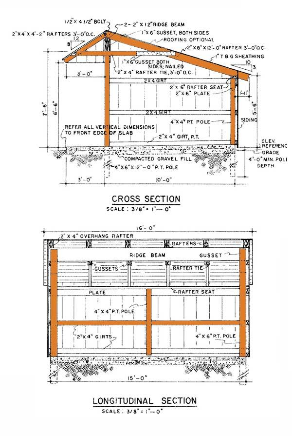 Loafing Shed Plans                                                                                                                                                      More