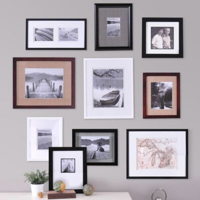 Real Simple 10 Piece Portrait Frame Set Wall Frame Set Picture Arrangements On Wall Frames On Wall