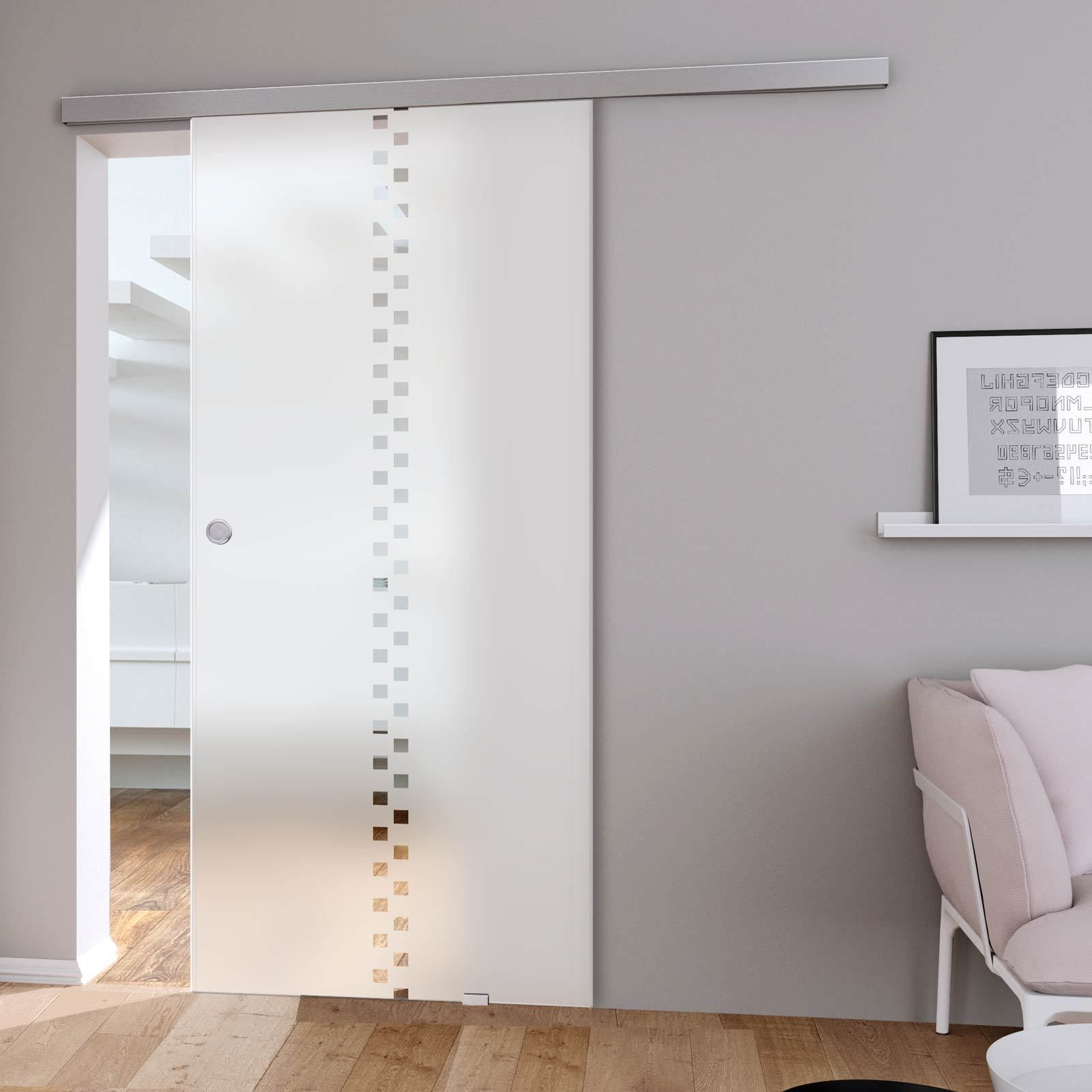 Single Glass Sliding Door - Bilston 5mm Obscure Glass - Clear