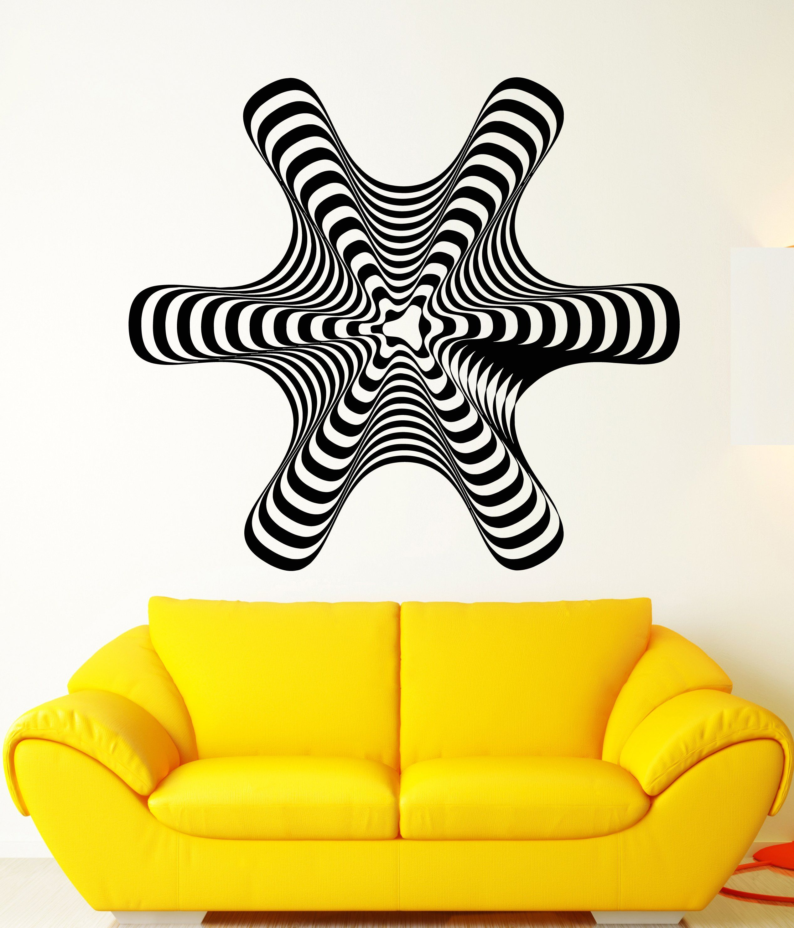 Vinyl Wall Decal Hypnosis Hypnotic Figure Art Abstract Room Decor ...