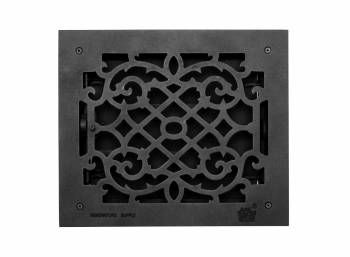 2 Register Black Aluminum Heat Register Cast Aluminum W Logo Rsf Black Heat Registers Floor Registers Louver Vent
