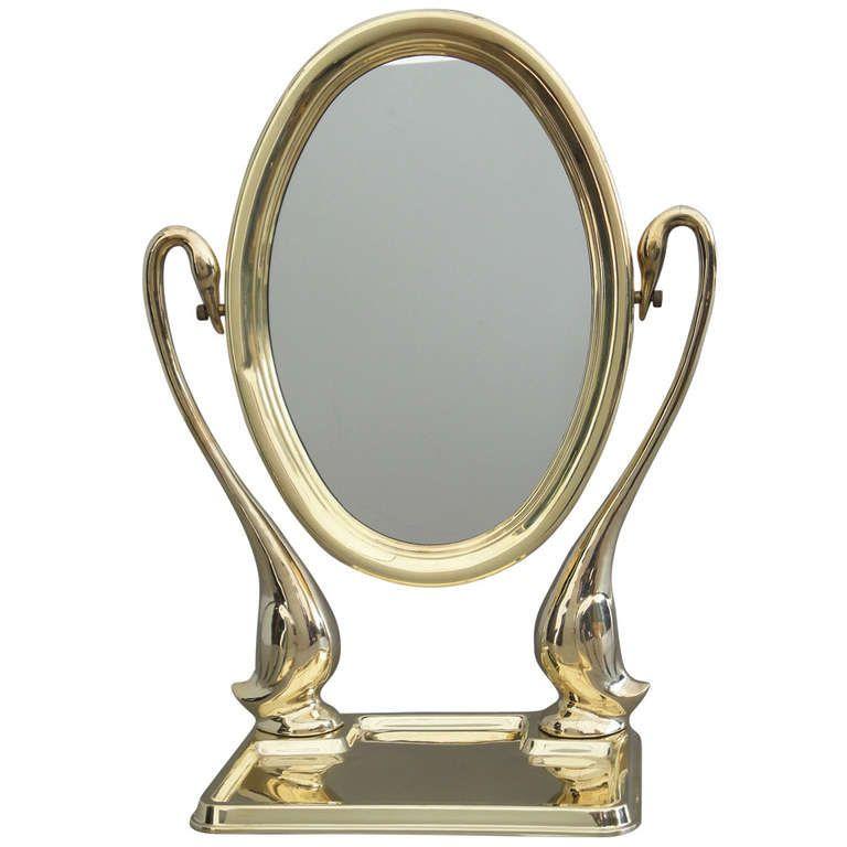 Polished Brass Swan Vanity Mirror Mirror Pinterest Mirror