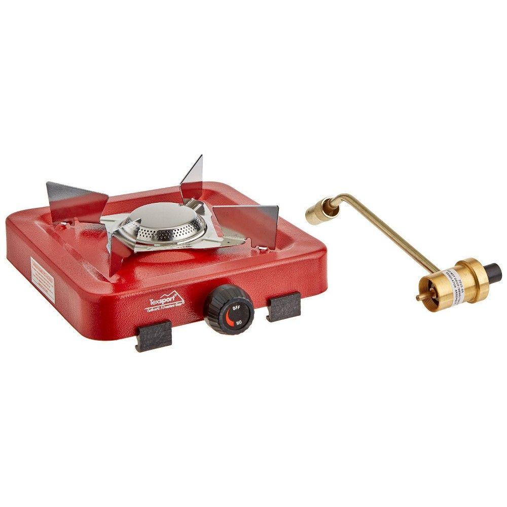 Texsport Single Burner Stove 14204 Propane Red Single Burner Propane Stove Single Burner Propane Stove