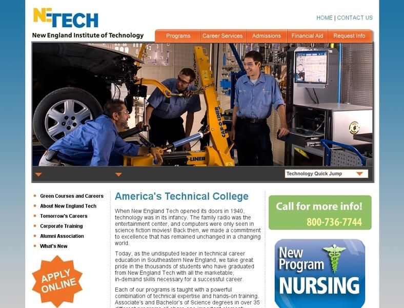 New England Institute of Technology University list