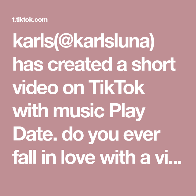 Karls Karlsluna Has Created A Short Video On Tiktok With Music Play Date Do You Ever Fall In Love With A Video Of Jungkook So Much That You Have To Frame It