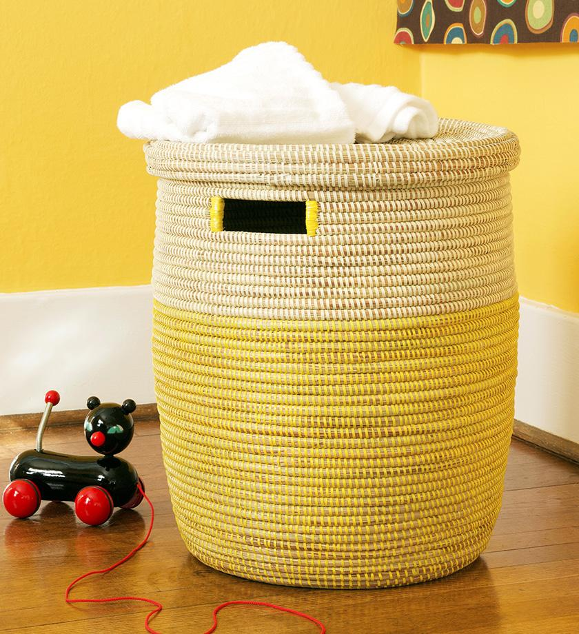 Lemon Drop Peace Corps Hamper Laundry Basket With Lid Storage