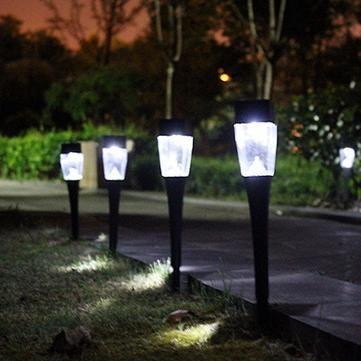 0 8w Solar Ed Plastic Outdoor Garden Led Landscape Light Path Lawn Yard Lamp