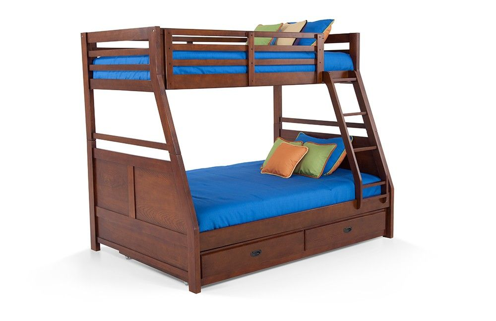 Transitional Youth Twin/Full Bunk Bed With Trundle