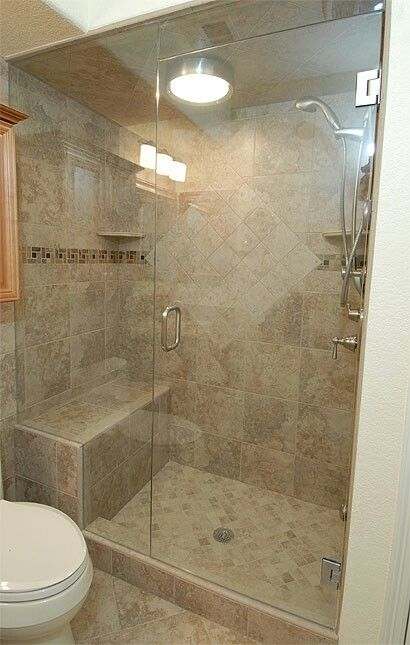 Move Light And Make It A Rain Shower And Steam Shower Bathroom