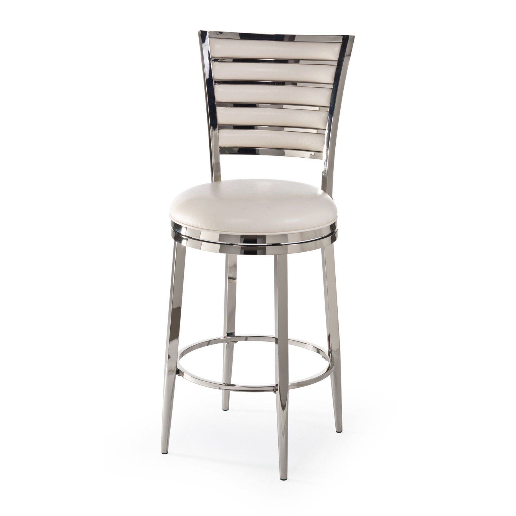 Hillsdale Rouen Swivel Bar Stool Shiny Nickel Bar