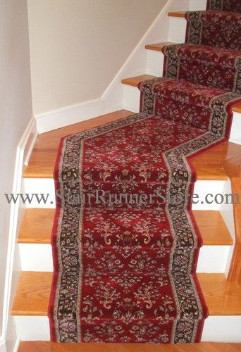 Angled Landing Stair Runner Traditional Staircase New York By The Stair Runner Store Creative Stair Runner Traditional Staircase Stair Runner Carpet
