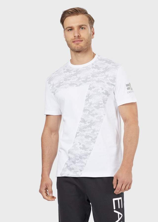 04c2190eab T-shirt in stretch cotton with camouflage logo in 2019 | Products ...