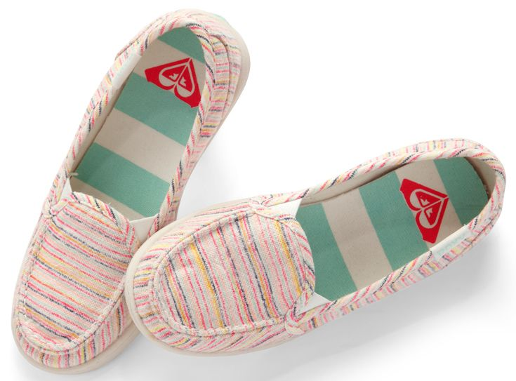Striped ROXY slip-on shoes are comfy and cute! #roxy #springbreak #gordmans