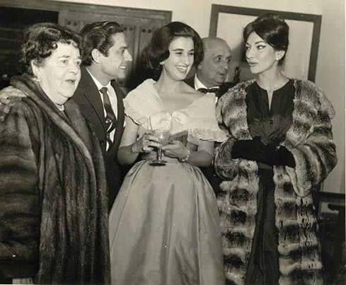 Maria Callas at a party