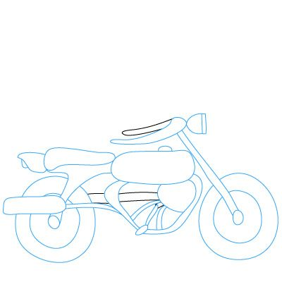 How To Draw Motorcycles Drawing Lessons For Kids Car Drawings