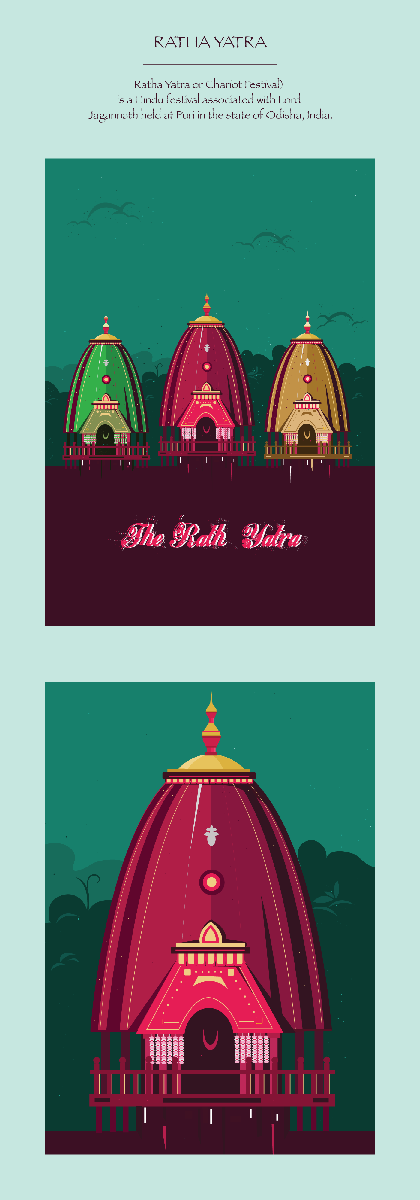 Check Out This Behance Project Ratha Yatra Illustration Https