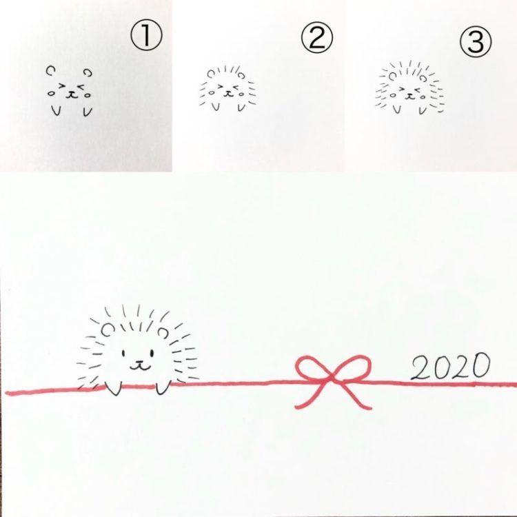 2020年干支ねずみ年 おしゃれなネズミの手書きイラスト 年賀状の簡単アイデア40作品 白黒ペン 筆ペン 子供向けの簡単イラスト などなど 手作り年賀状の作り方 イラストアイデア多数あり 簡単イラスト 年賀状 年賀状 デザイン