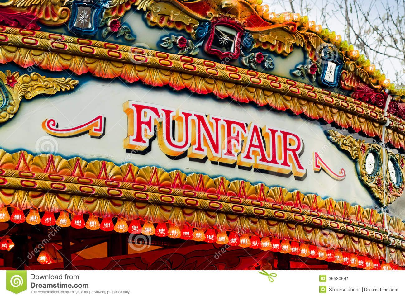old state fair signs Traditional Carousel funfair sign