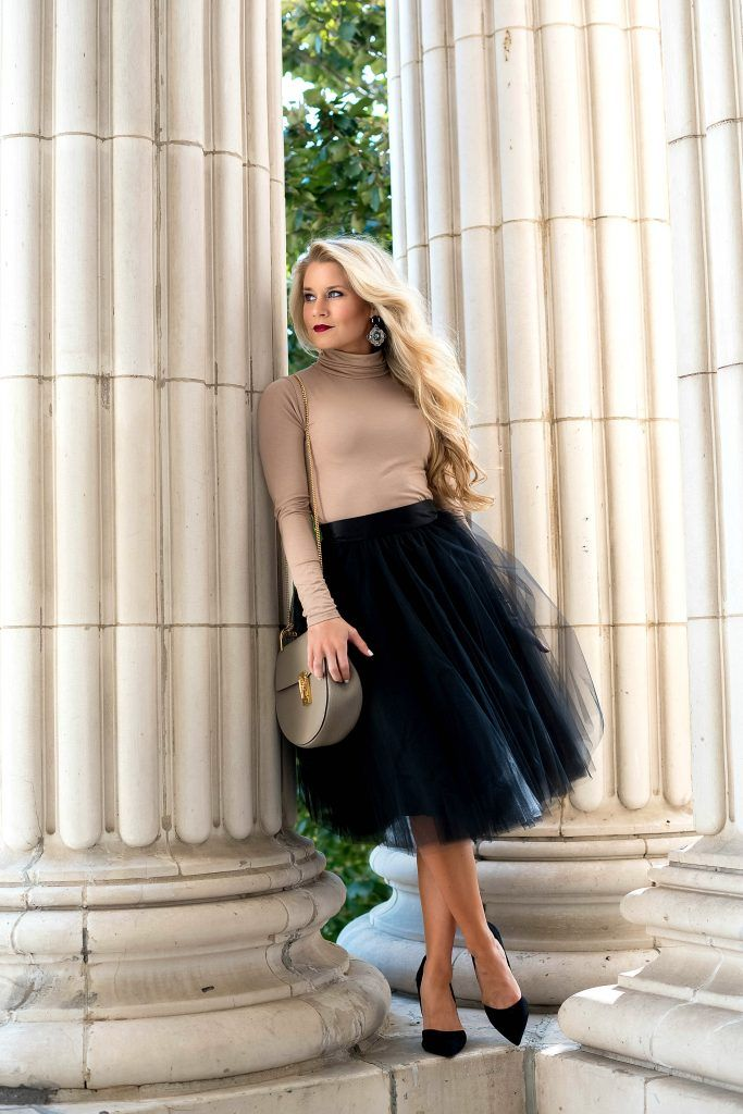 00fa82e7a How to Style a Tulle Skirt | OliviaRink.com | Black tulle skirt ...