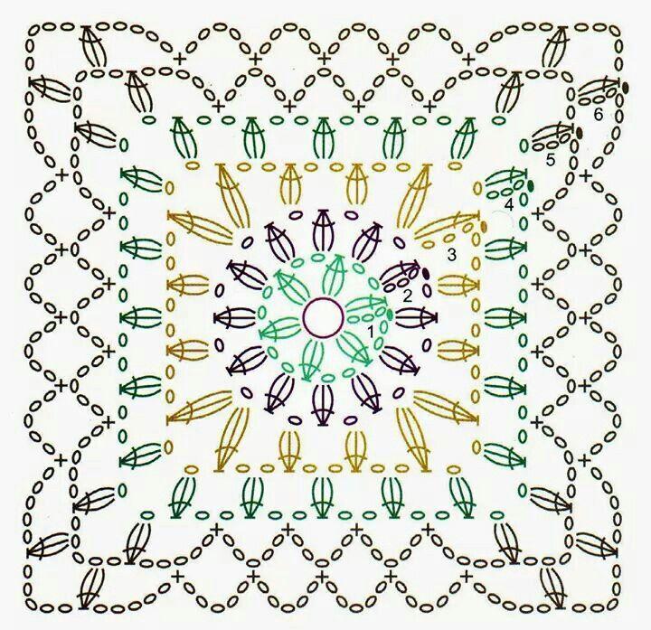 Resultado de imagen para granny con flor central relieve | CUADRADOS ...