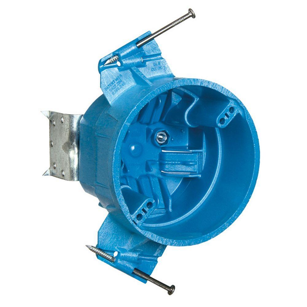 Carlon 25 Cu In New Work Ceiling Fan Electrical Box Super Blue Case Of 8 Bh525lr In 2020 Ceiling Fan Ceiling Fan Installation Ceiling Fan Bracket