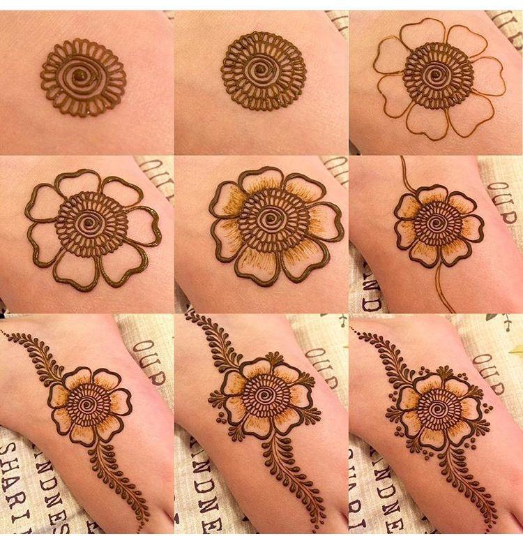 Henna Mehendi Step Simple Henna Tattoo Mehndi Designs For