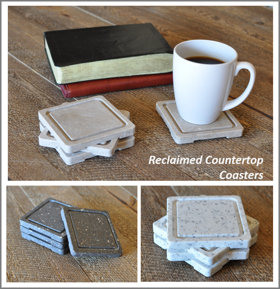 Recycled Countertop Coasters - set of 4 | Colorful furniture, Coaster set,  Reclaimed kitchen
