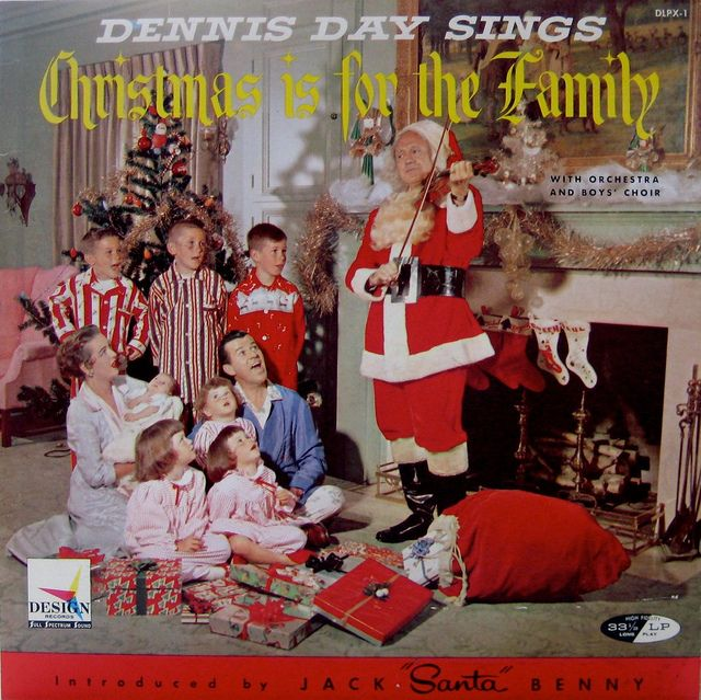 Christmas Is For The Family Dennis Day Christmas Albums Album Covers Christmas Cover