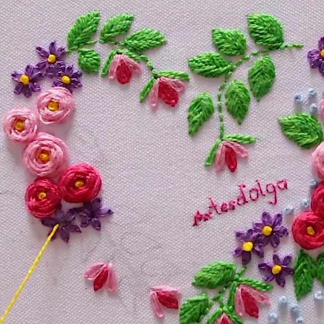 Cómo Bordar Corazón Floral #flowerfabric