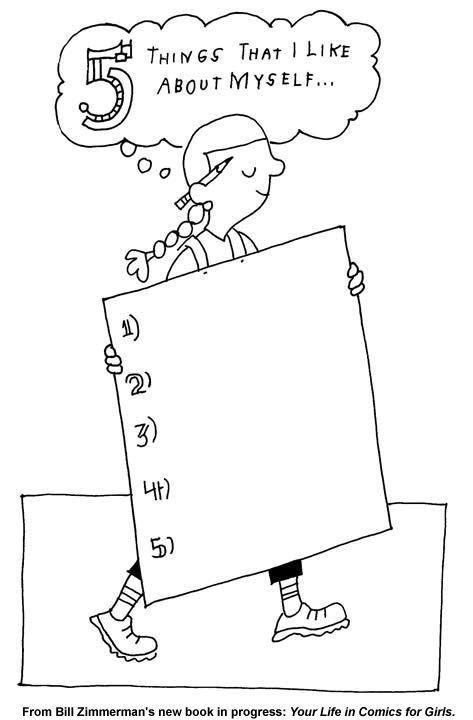 Self-Esteem Printable 5 Things I Like About Myself
