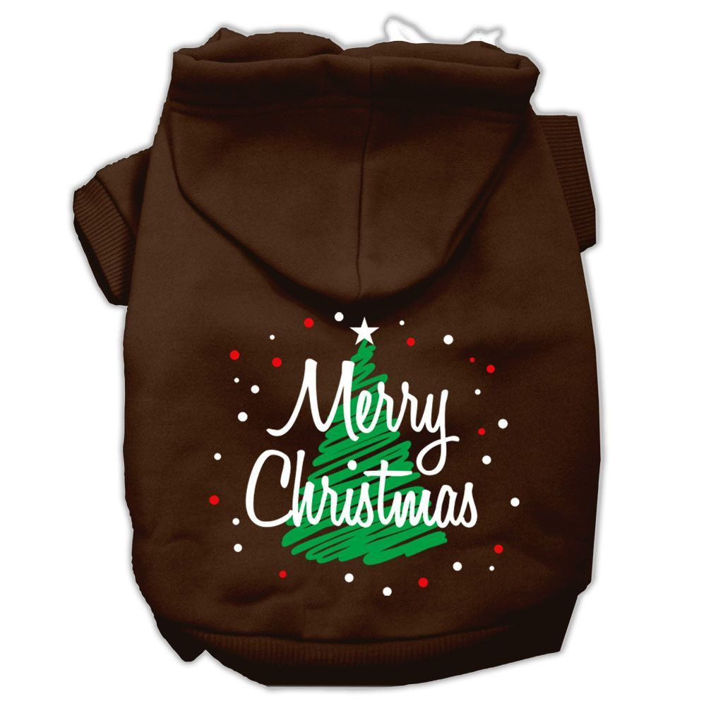Mirage - Scribbled Merry Christmas Dog Hoodie