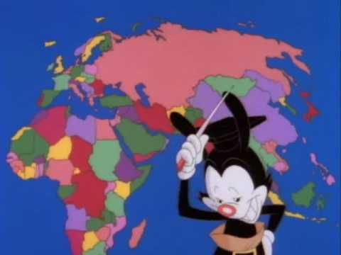 Yakko from Animaniacs sings the countries of the world to