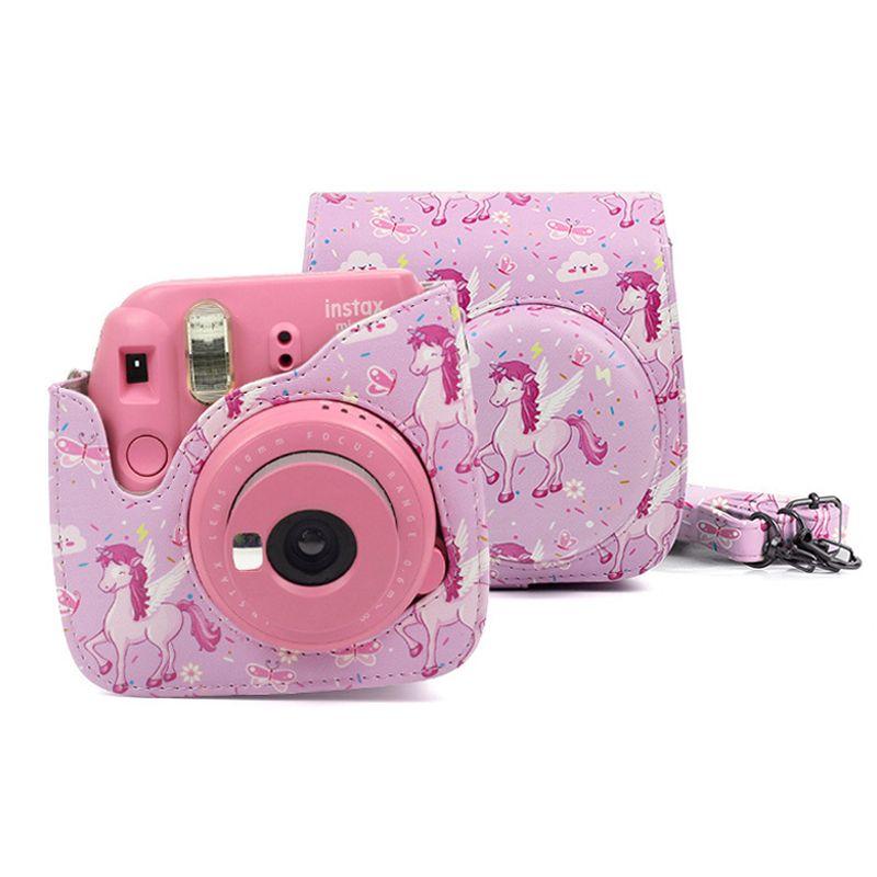 19f350f56394 ... Camera Video Bags Information about Fujifilm Instax Mini 9 8 Camera  Accessories Unicorns PU Leather Instant Camera Shoulder Bag Protector Cover  Case ...