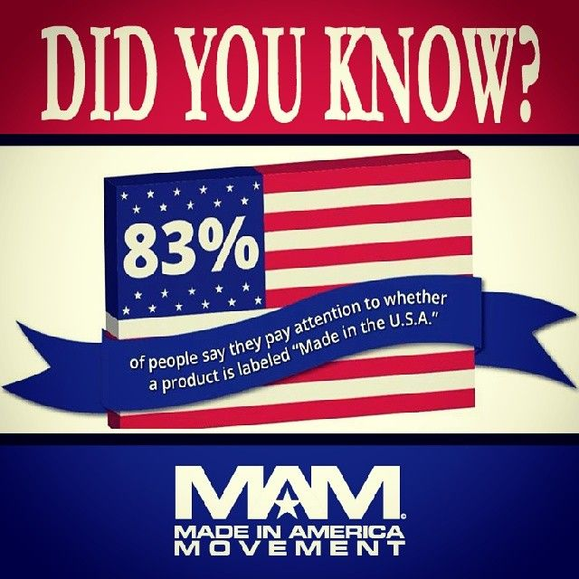 Did you know? 83% of consumers look for the #MadeinUSA ...