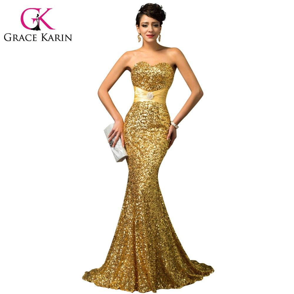 Red gold luxury women long formal special occasion dress in