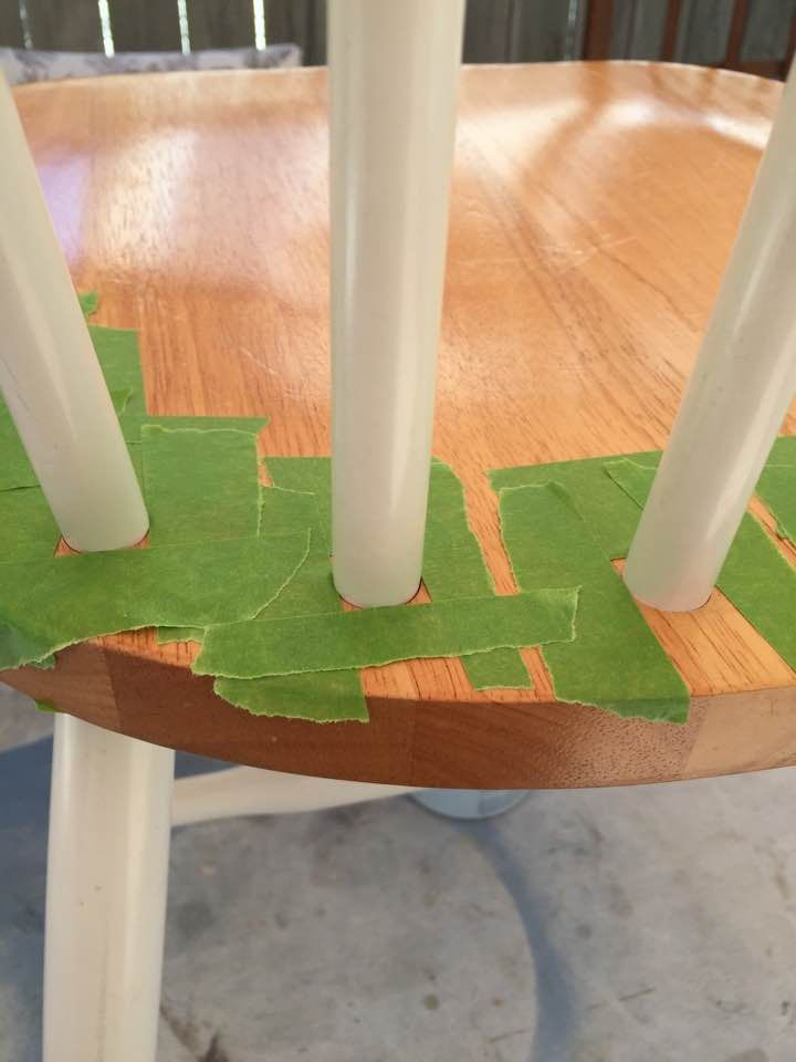 How To Quickly Tape Off Chair Spindles
