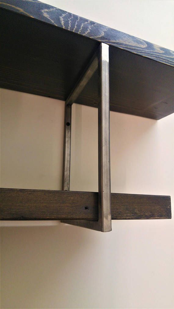 Square Shelf Bracket Set Two 2 Handmade Industrial Square Etsy