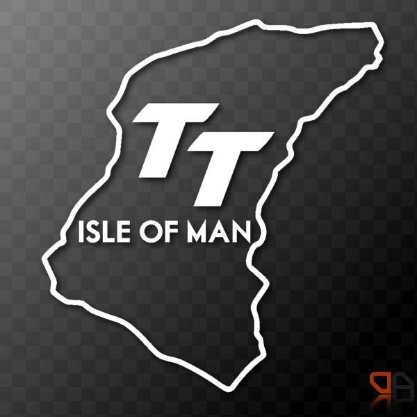 isle of man tt race track outline vinyl decal sticker graphic motorcycle bike isle of man tt. Black Bedroom Furniture Sets. Home Design Ideas